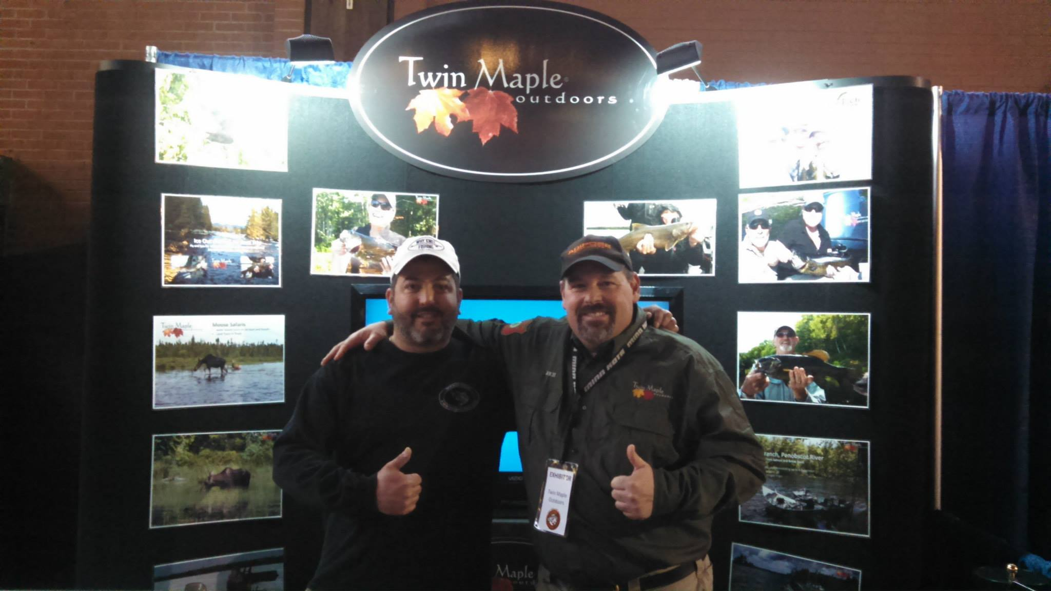 Rich Yvon and Dave Perry at The New England Fishing and Outdoors Expo 2016